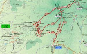 バス停位置図(茅ヶ岳登山用)